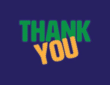 Green and Yellow Thank you vector patch