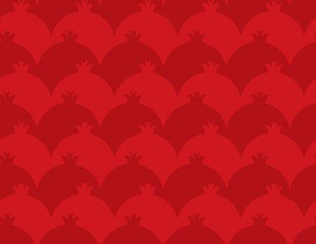 Red Pomegranate seamless pattern
