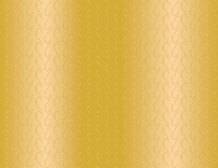 Small abstract shapes, seamless pattern on Gold vector background