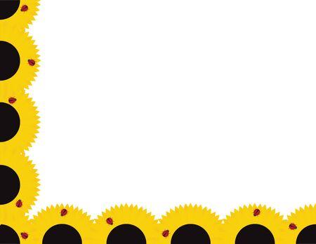 Sunflower and Ladybug Frame