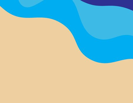 Abstract Blue sea waves and Brown sand, Blue and Brown natural colors background