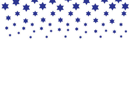 Blue star of David shapes on White background