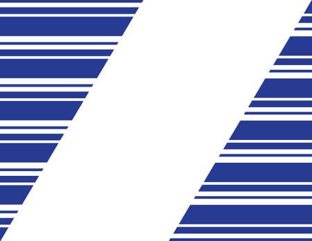 Blue White Stripes Seamless Frame