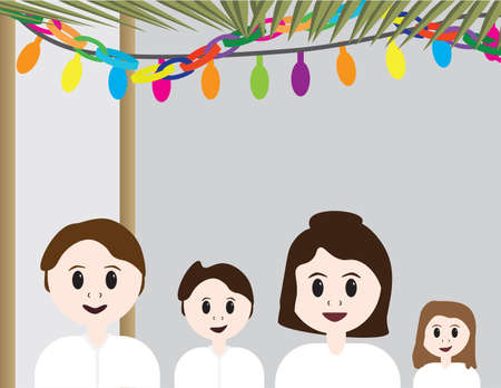 Jewish family - Parents in a Sukkah