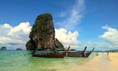 phra nang: Phra Nang Cave Beach Stock Photo