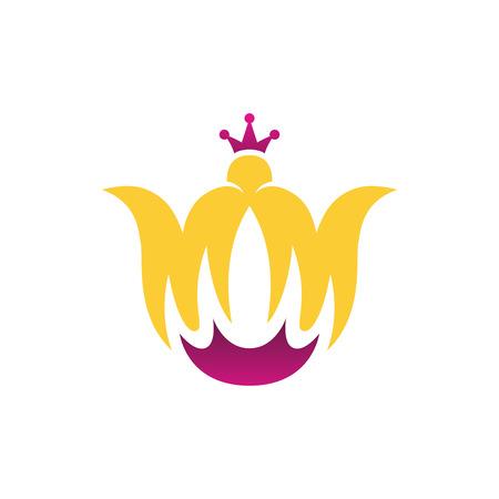 Flower Crown Letter M Logo Template
