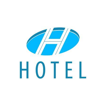 Hotel Blue Logo Template