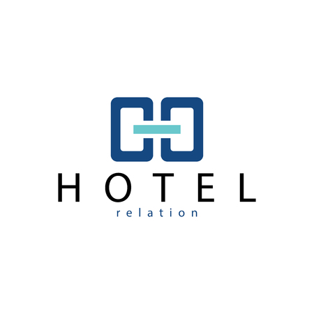 Hotel Relations Logo Template Çizim