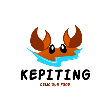 Kepiting Seafood Logo Template