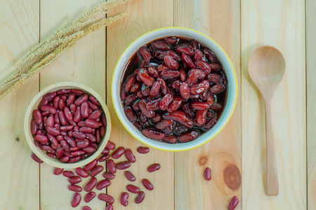 syrup: Kidney beans in syrup.