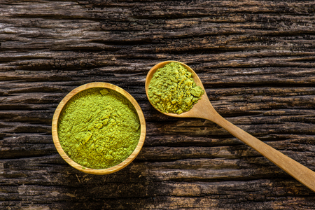 asian flavors: Green Matcha Tea in a Bowl
