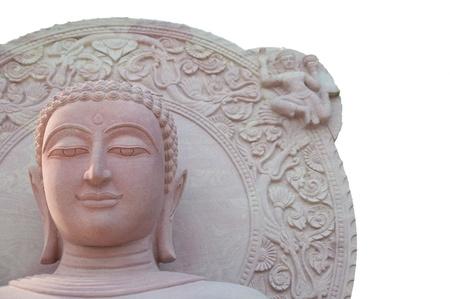buddist: Buddha statue Carving from white sandstone