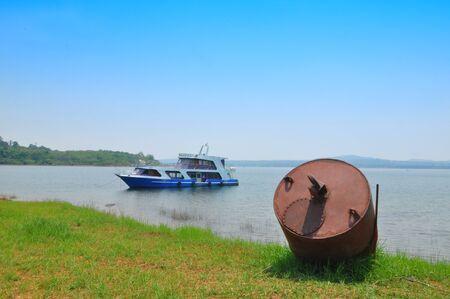 buoyancy: Buoyancy to the boat in the reservoir