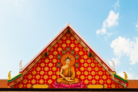 Thai Buddhist paintings of the temple photo