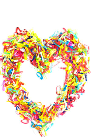 Heart of rubber band decorated  photo