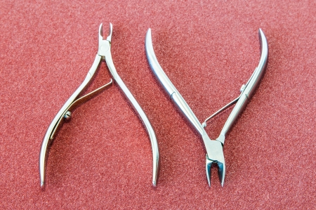 Skin and nail scissors two  Stock Photo - 16255195