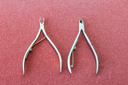 Skin and nail scissors two  Stock Photo - 16255197
