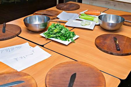 Atelier culinaire. Concept de cuisson et préparation