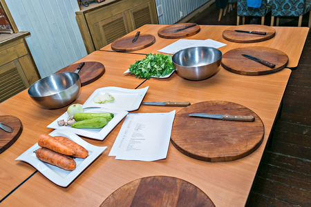 culinary workshop.  concept cooking workshop