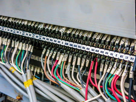 Plcs system for control and command Automatic machine Stock Photo