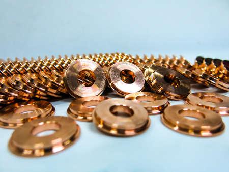 copper circle round metal