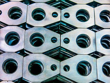 Steel round chrome metal plate set