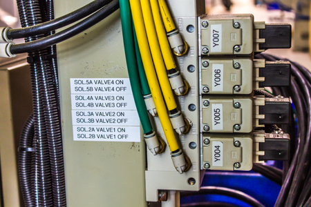 plc, industrial, system, control, electrical, scada, data, systems, power, process, wiring, Stock Photo