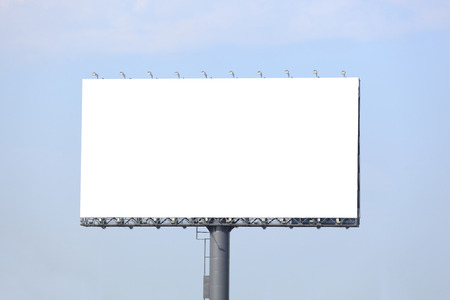 Blank billboard ready for new advertisement Фото со стока