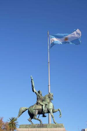 manuel: Statue of Manuel Belgrano, Argentine economist, lawyer, politician, and military leader and creator of the Flag of Argentina.