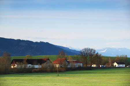 adolf: Panoramic view of beautiful mountain landscape in the Bavarian Alps