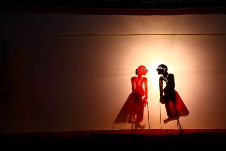 shadow show: A Traditional Thailand Shadow Puppet Show