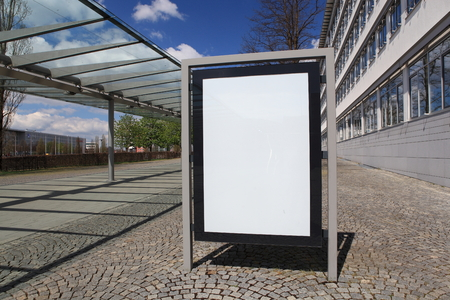 advertisement: Blank billboard ready for new advertisement Stock Photo