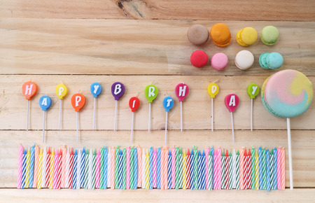 childrens food: happy birthday candles