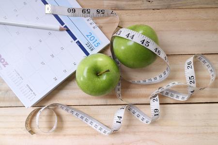 스포츠, 피트 니스, 기록, 메모장, 체중 감량, 다이어트, 영양의 개념 스톡 콘텐츠