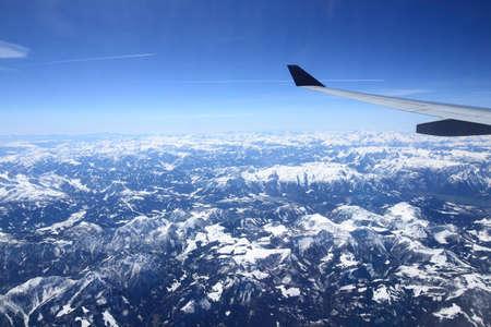 window view: Sky view from airplane window.