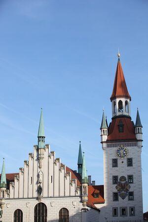 in bavaria: famous munich marienplatz - germany - bavaria Stock Photo