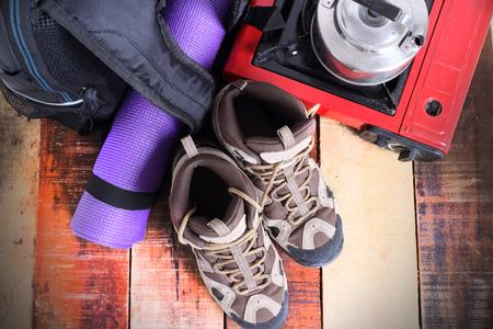 camping equipment: Camping equipment.