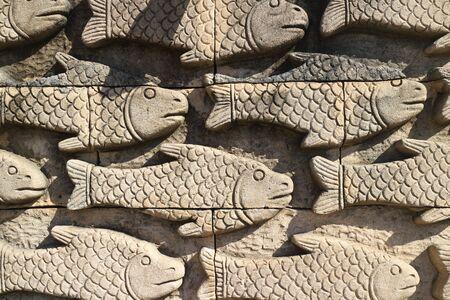 escamas de peces: escamas de los peces de fondo Foto de archivo