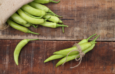green chili peppers Stockfoto