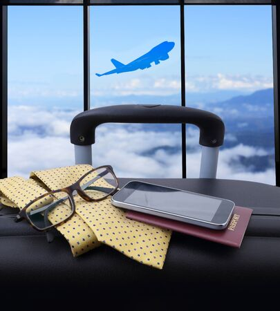air travel: concept travel , passenger plane on sky and very beautiful , use for air transport ,journey and travel industry business