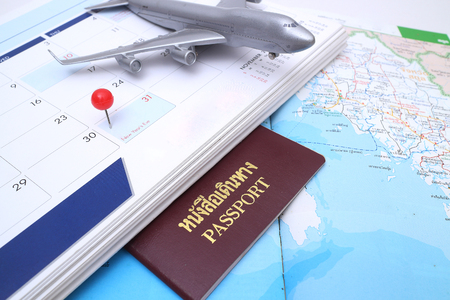 prepare: Last day of the month marked on the calendar and schedule prepare for travel Stock Photo