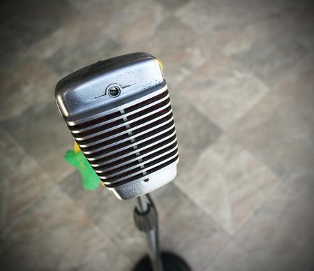 retro radio: Retro style microphone