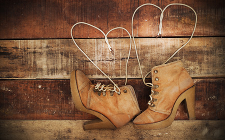 swain: shoes with Lovely Heart.