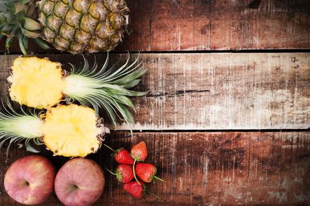 campesinas: fotos de frutas tropicales en la luz natural