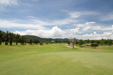 agriturismo: golf place with nice green Stock Photo