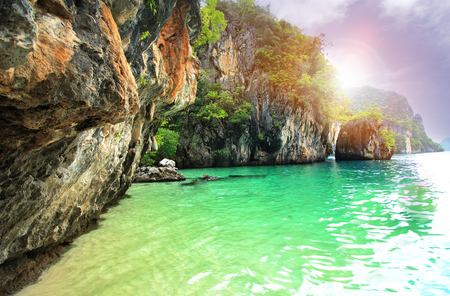 tropical holidays - amazing beaches of  Koh Hong island beach. The beach is a famous travel destination in Krabi,Thailand.