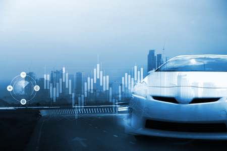 Electric Cars and Plug-in Hybrids , Transportation with electric car concept
