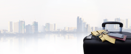 travel bag or business luggage  concept Stock Photo