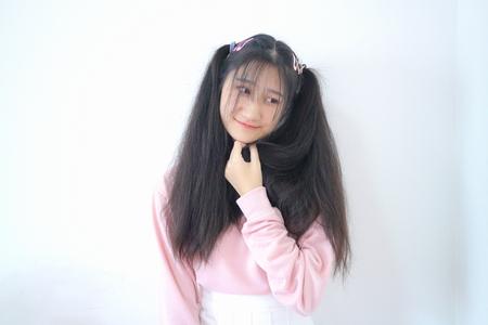 asian girl smile 版權商用圖片