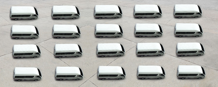 van top view for sale , transportation logistic concept Banco de Imagens